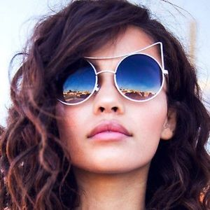 Accessories - Cat Ear Sunglasses Mirror Festival Rave Circle